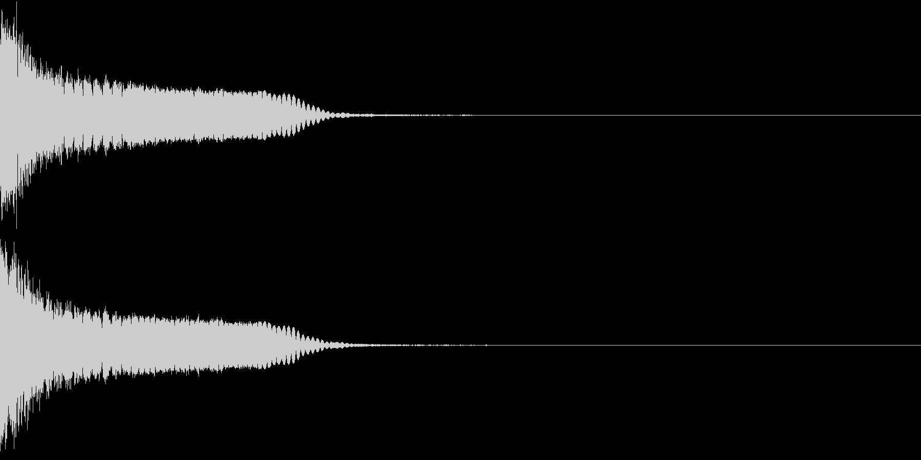 刀 剣 カキーン シャキーン 目立つ04の未再生の波形