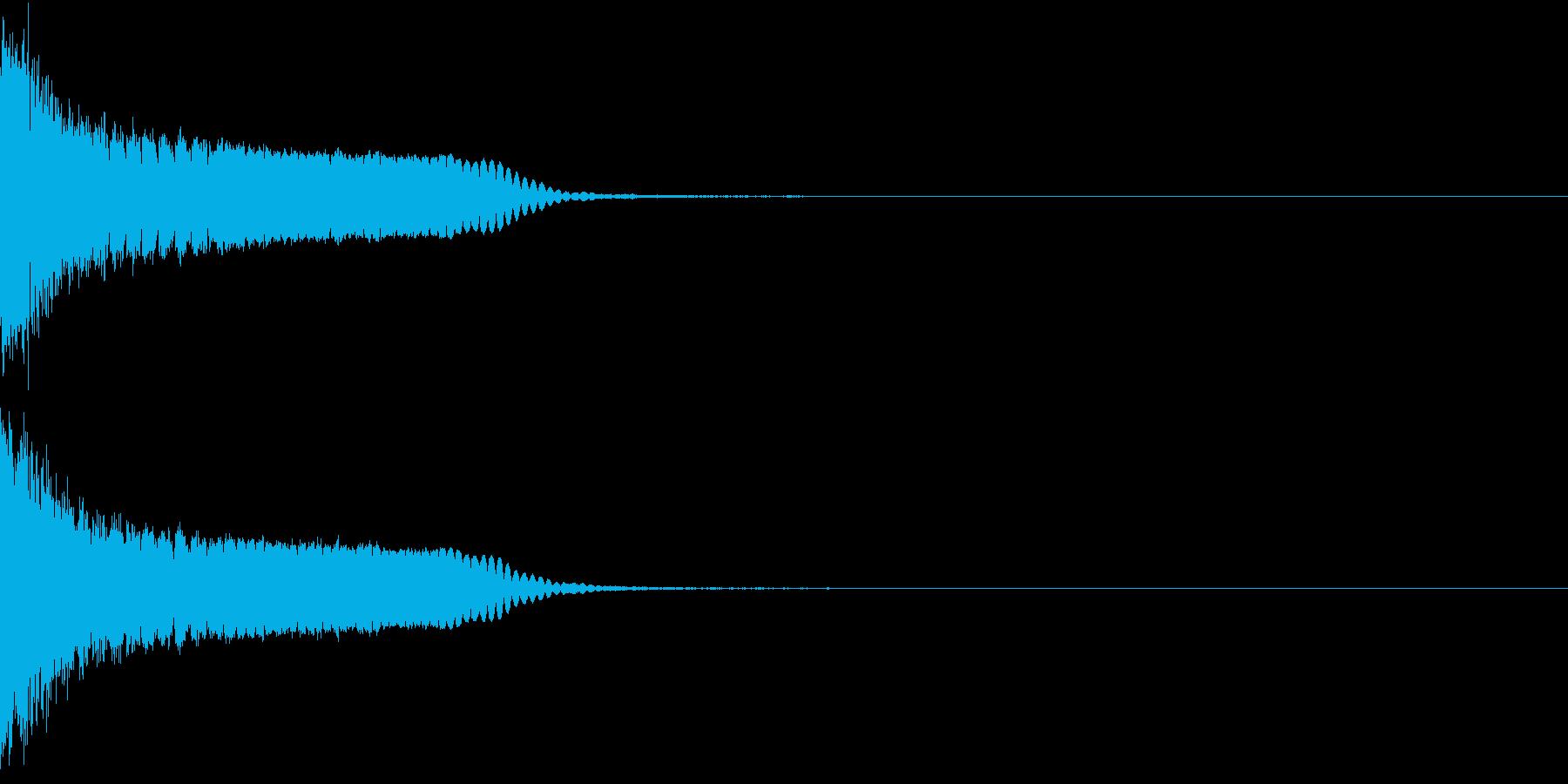 刀 剣 カキーン シャキーン 目立つ04の再生済みの波形