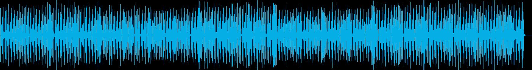 跳ねるグルーヴのエレクトロポップの再生済みの波形