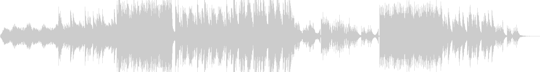 ピアノメインのダンスミュージックの未再生の波形