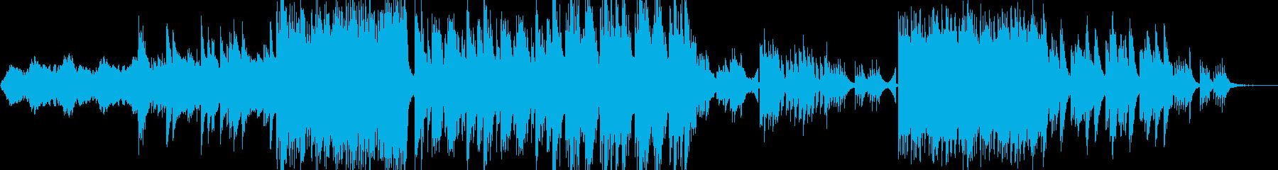 ピアノメインのダンスミュージックの再生済みの波形