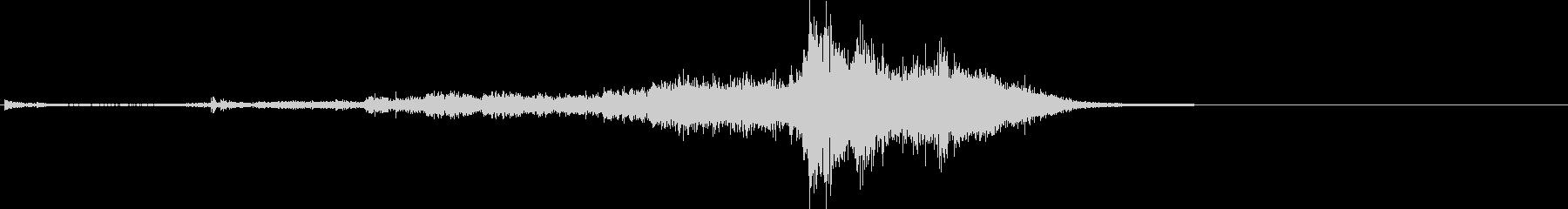 シャキーン(刀やソードの音)の未再生の波形