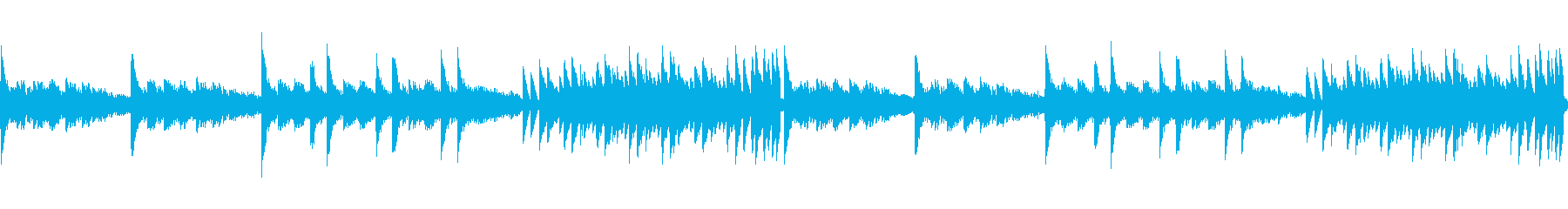 8bitクラシック-水族館-(ループ)の再生済みの波形