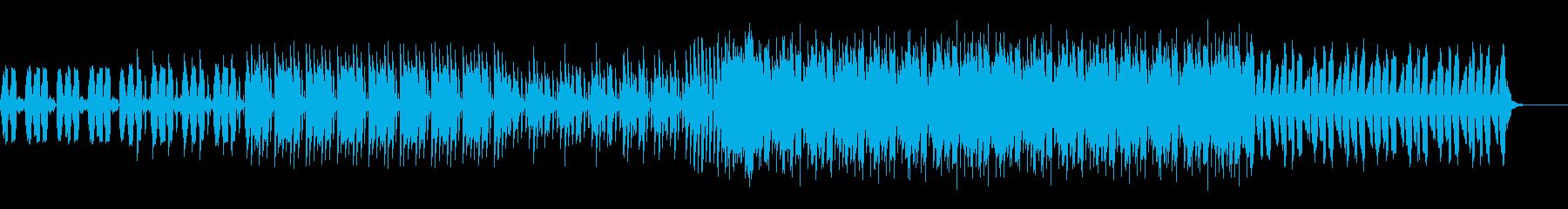力強いビートのピアノバッキングEDMの再生済みの波形