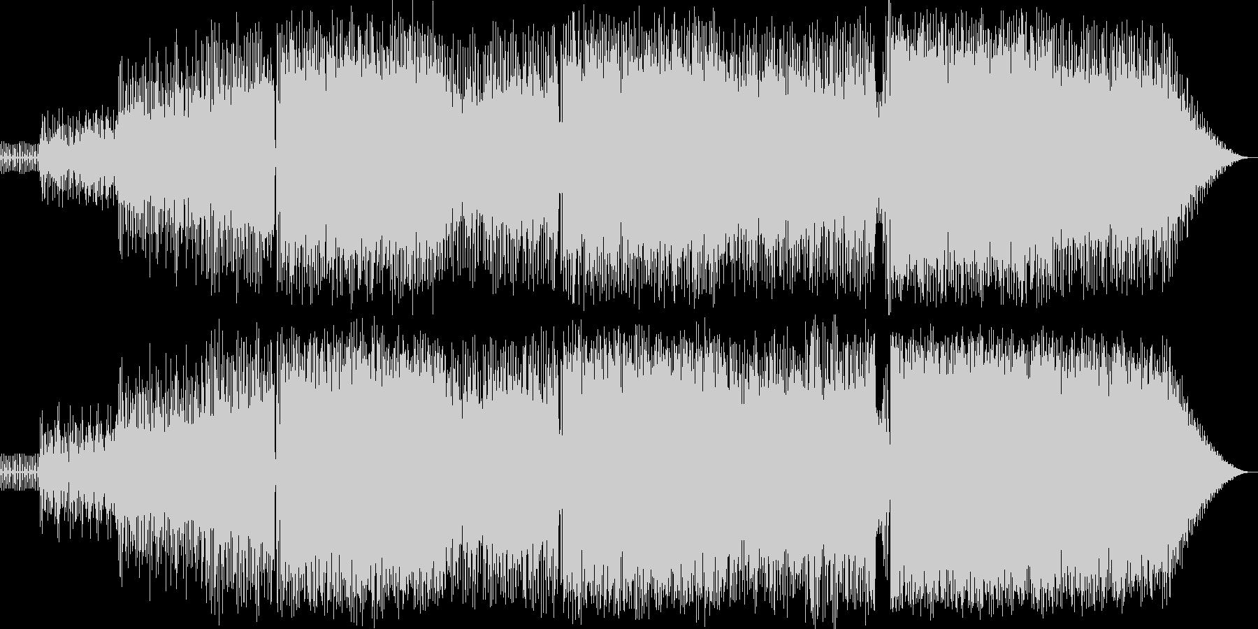 シンセの旋律が印象的なダンス系BGMの未再生の波形