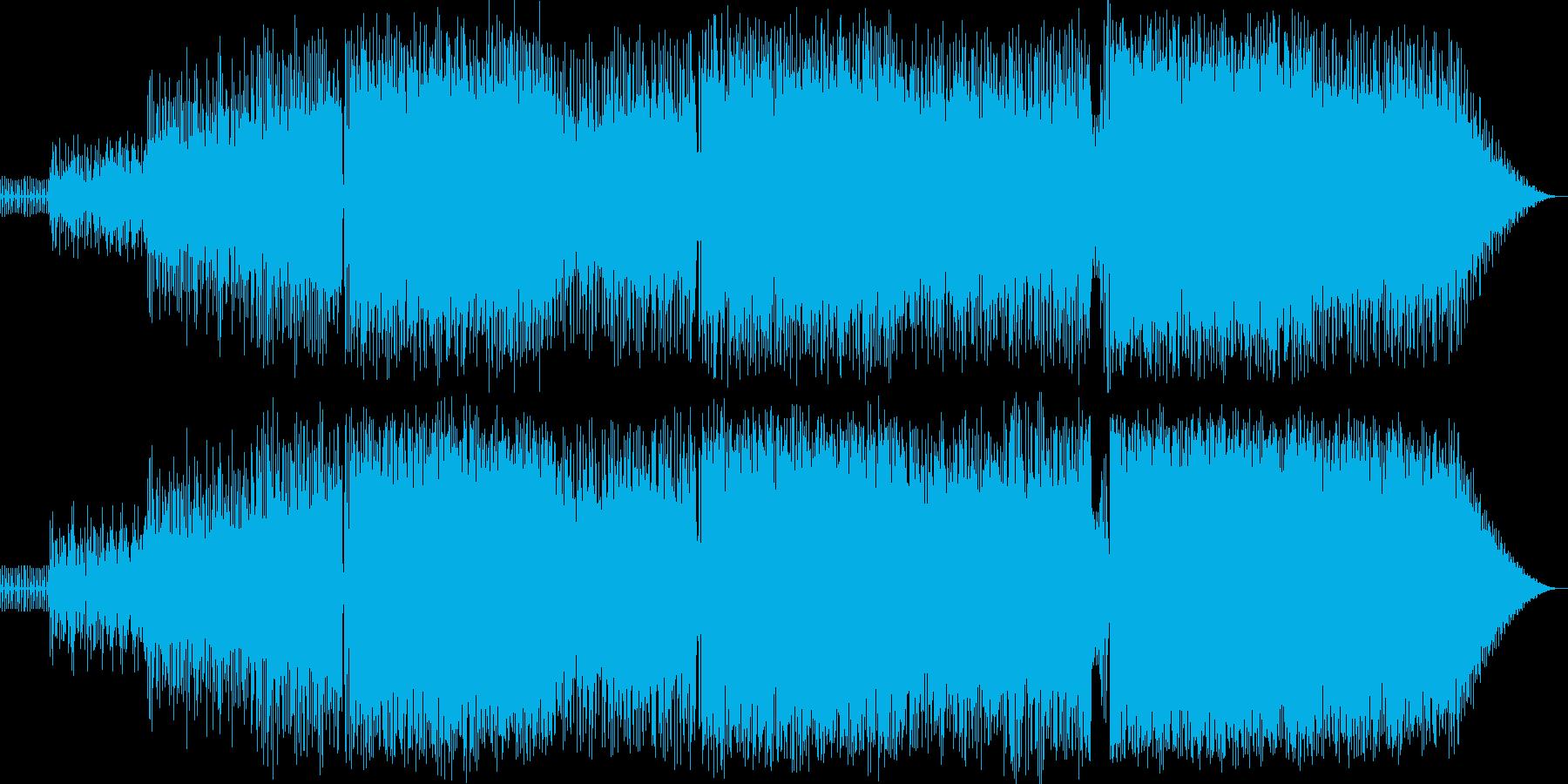 シンセの旋律が印象的なダンス系BGMの再生済みの波形