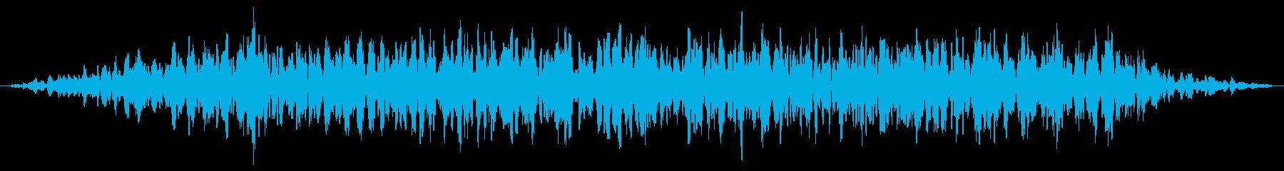 地震魔法(地響き)の再生済みの波形