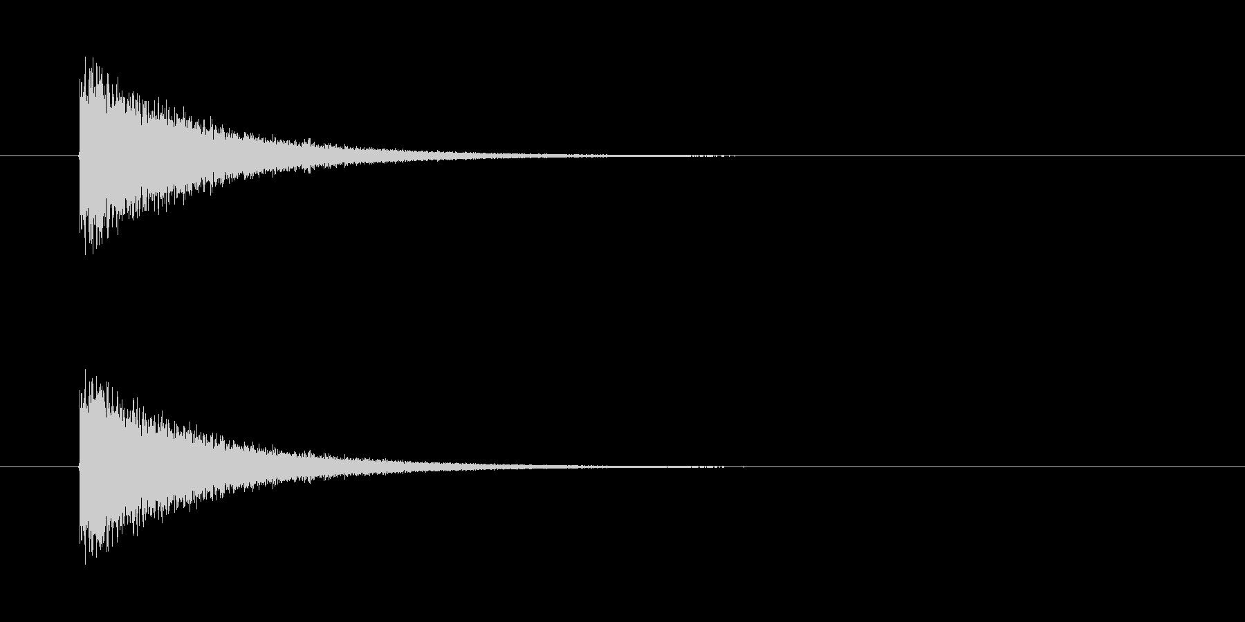 ピシューン! ミサイルの発射音です。の未再生の波形