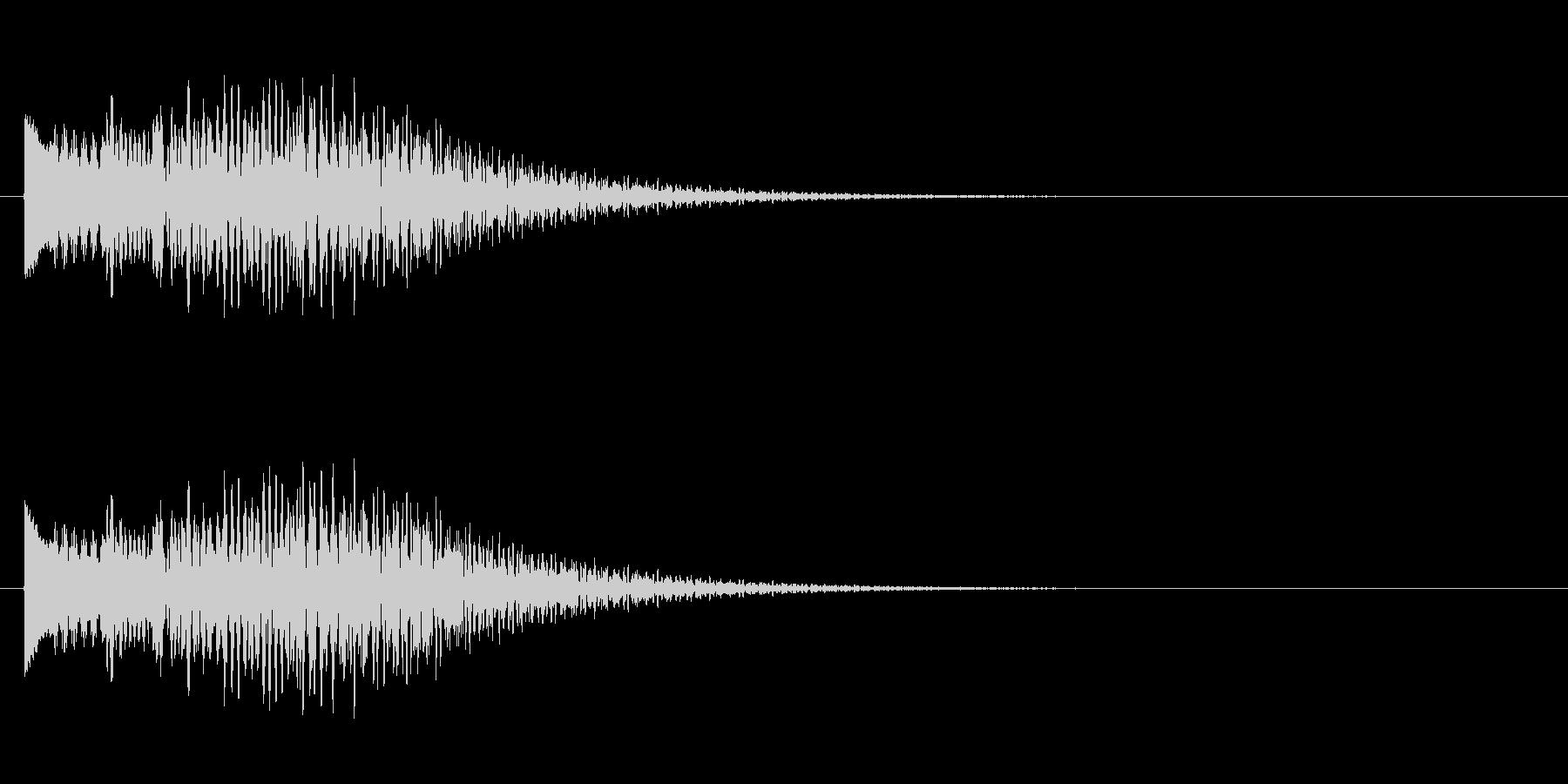 キラキラキラーン/鉄琴の綺麗な幸せ上昇音の未再生の波形