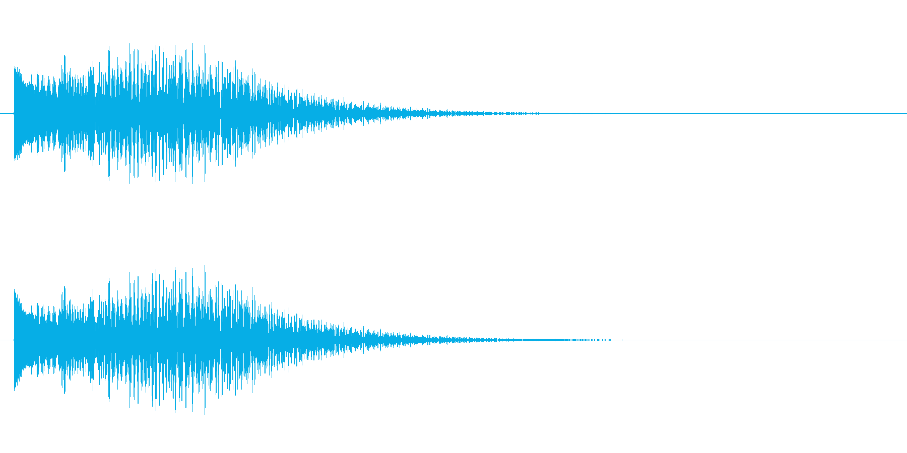 キラキラキラーン/鉄琴の綺麗な幸せ上昇音の再生済みの波形