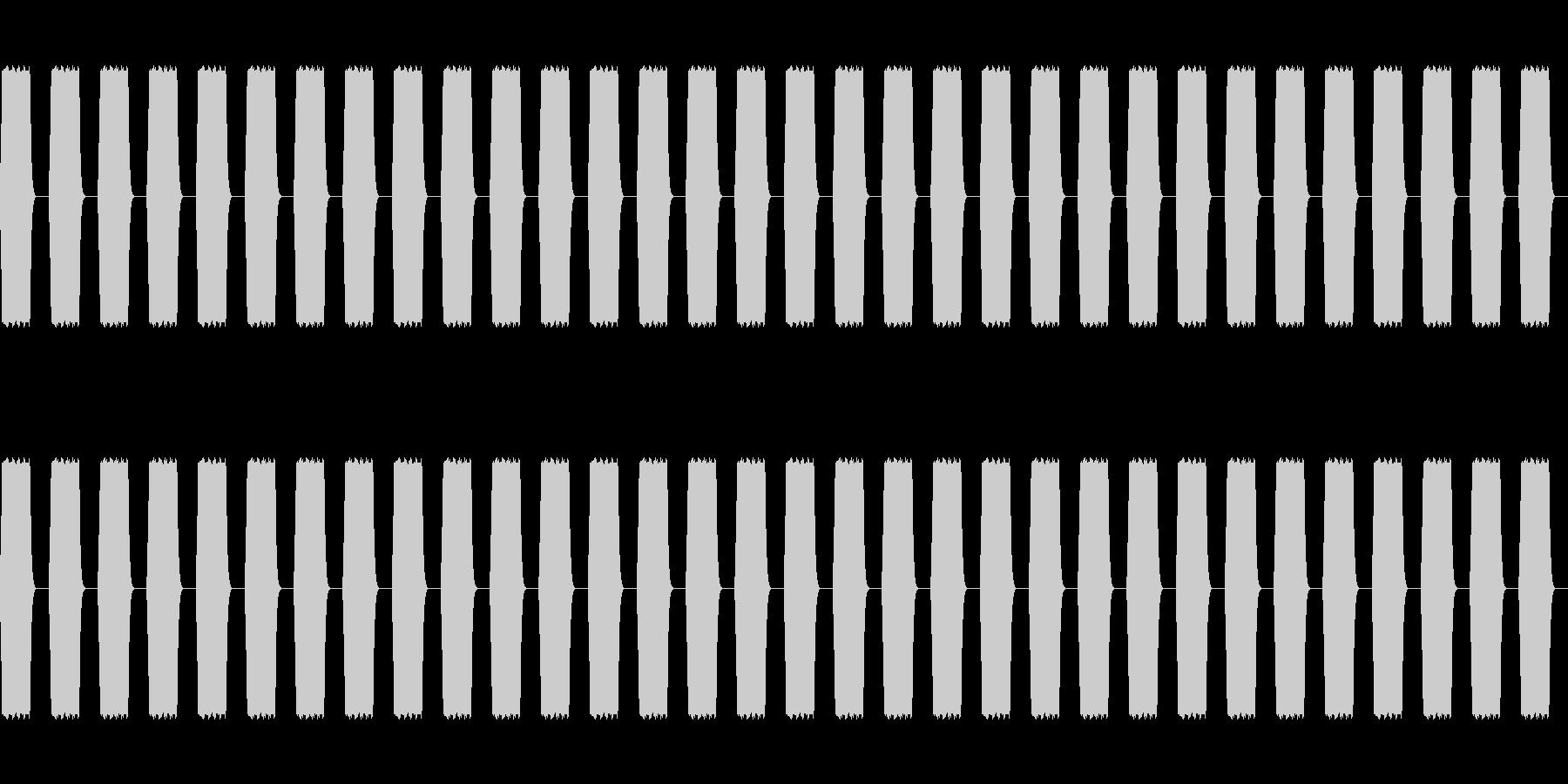 ピピピ:ステータス加算の未再生の波形