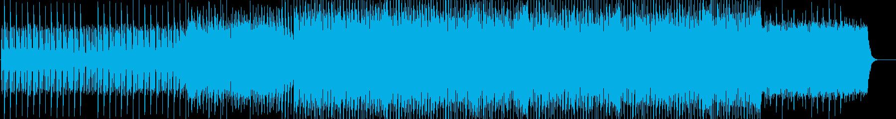 ビートの効いたメリハリある曲の再生済みの波形