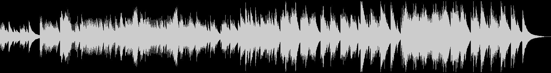 静けさの中にロマンが宿るオルゴール曲の未再生の波形