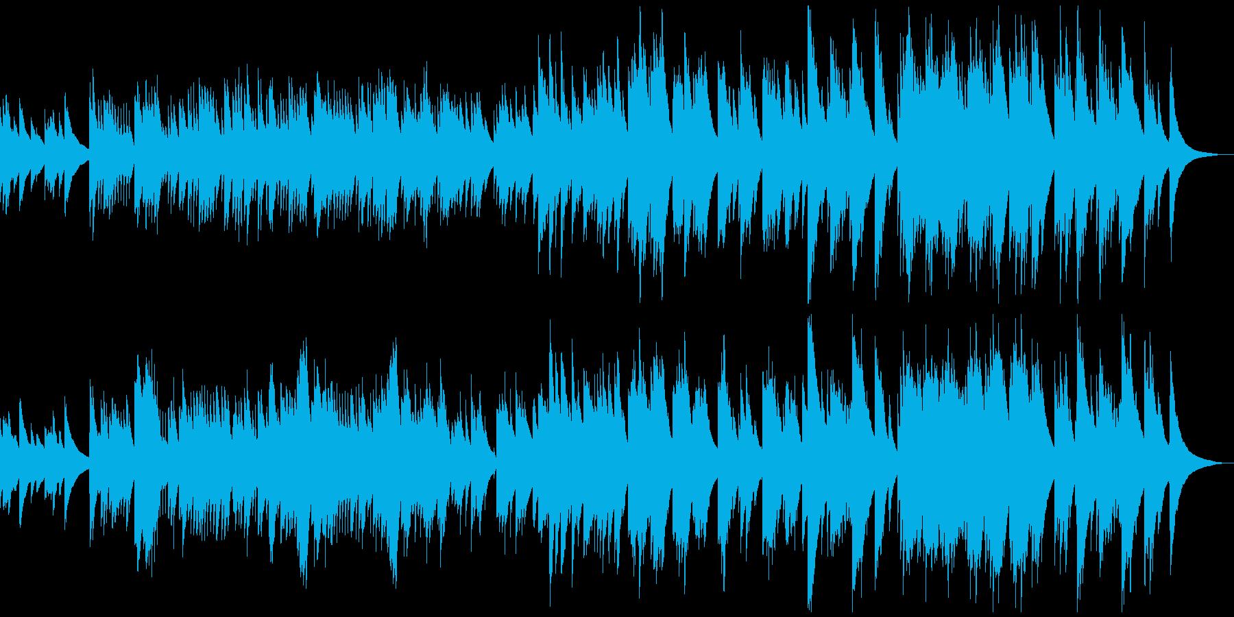 静けさの中にロマンが宿るオルゴール曲の再生済みの波形