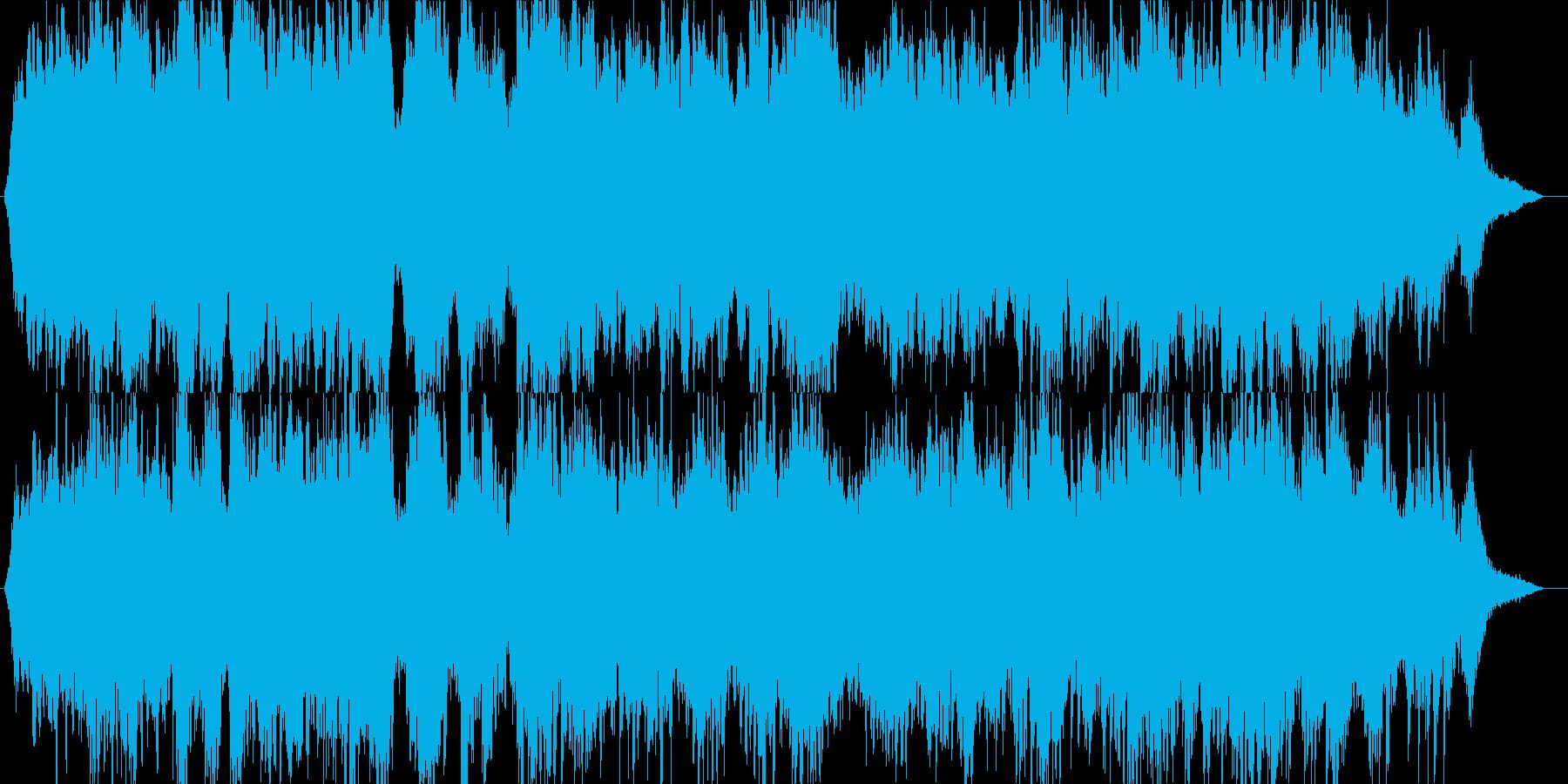 海で泳ぐ魚をイメージした幻想的なピアノ曲の再生済みの波形