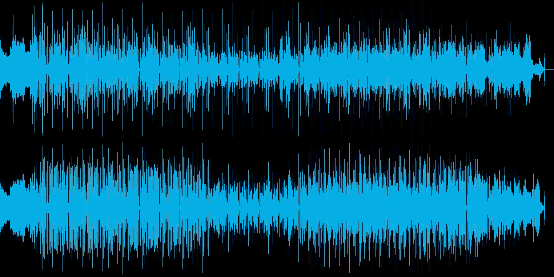 ニュースクール風のストリートヒップホップの再生済みの波形