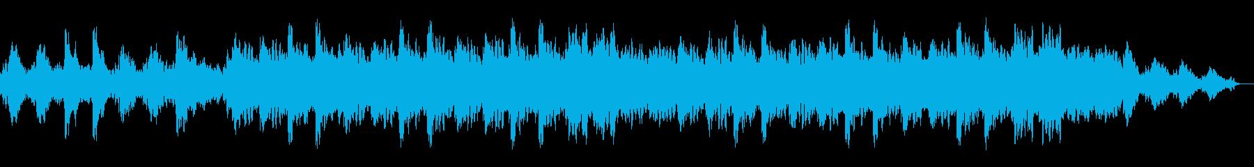 穏やかで神秘的なアンビエント系BGMの再生済みの波形