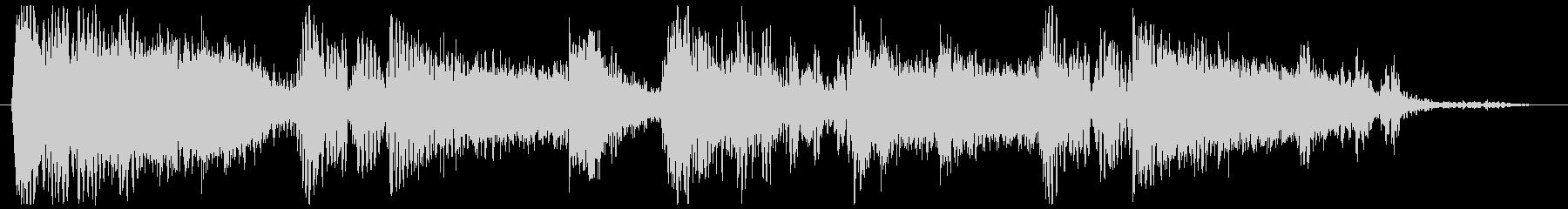 ホーンの音が響くヒップホップジングルの未再生の波形