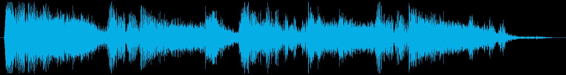 ホーンの音が響くヒップホップジングルの再生済みの波形