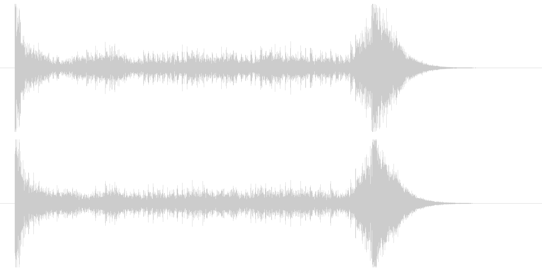 ティンパニーロール_シンバルあり(6秒)の未再生の波形