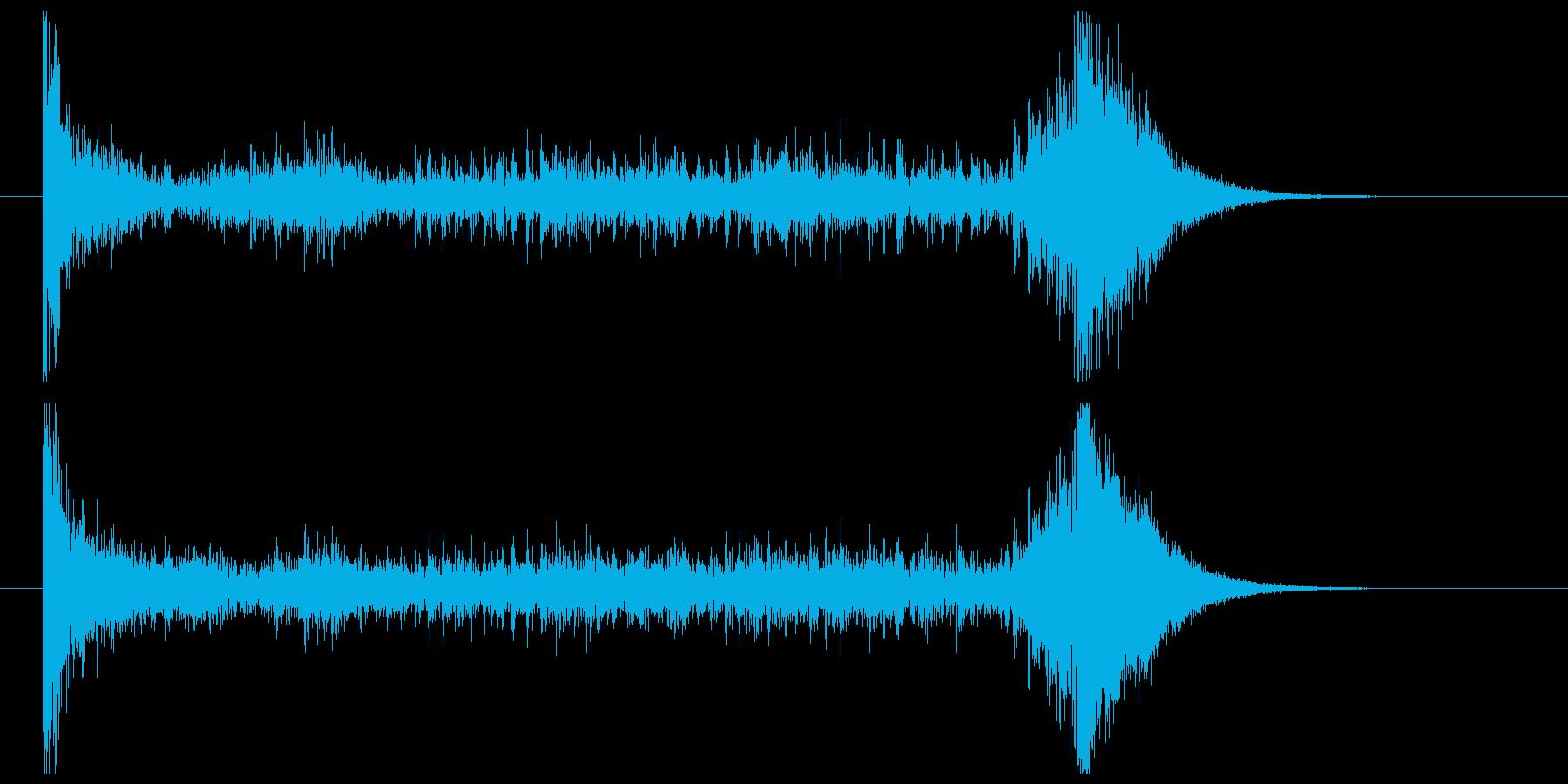 ティンパニーロール_シンバルあり(6秒)の再生済みの波形