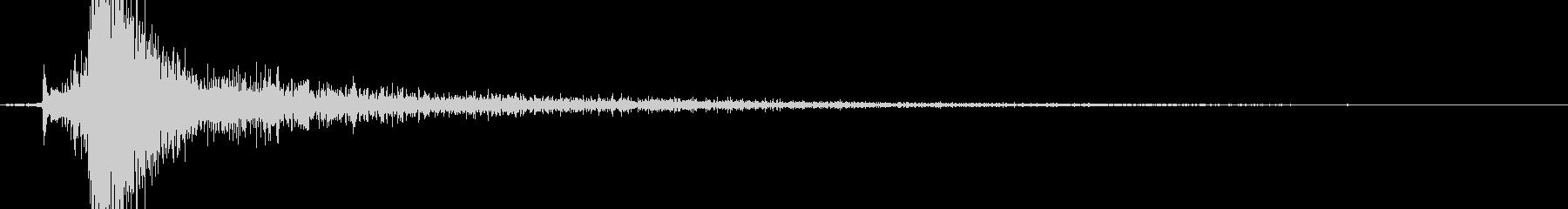 カチッ(金属系効果音)の未再生の波形