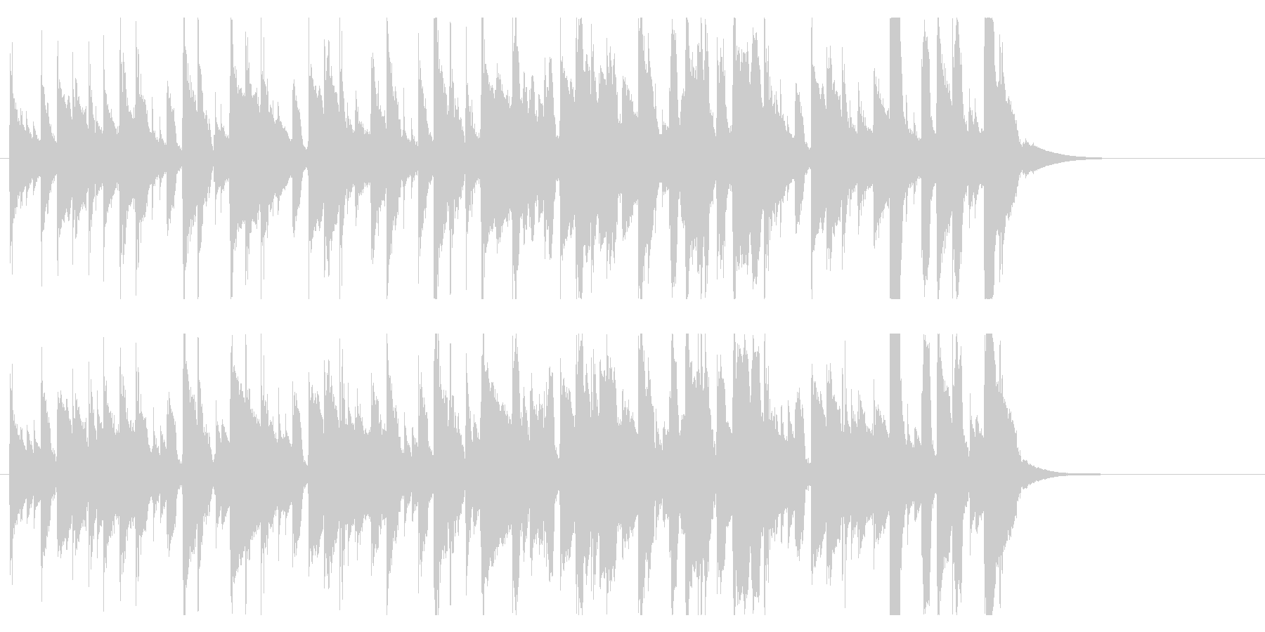 ほのぼのかわいいジングル 口笛で楽しいの未再生の波形