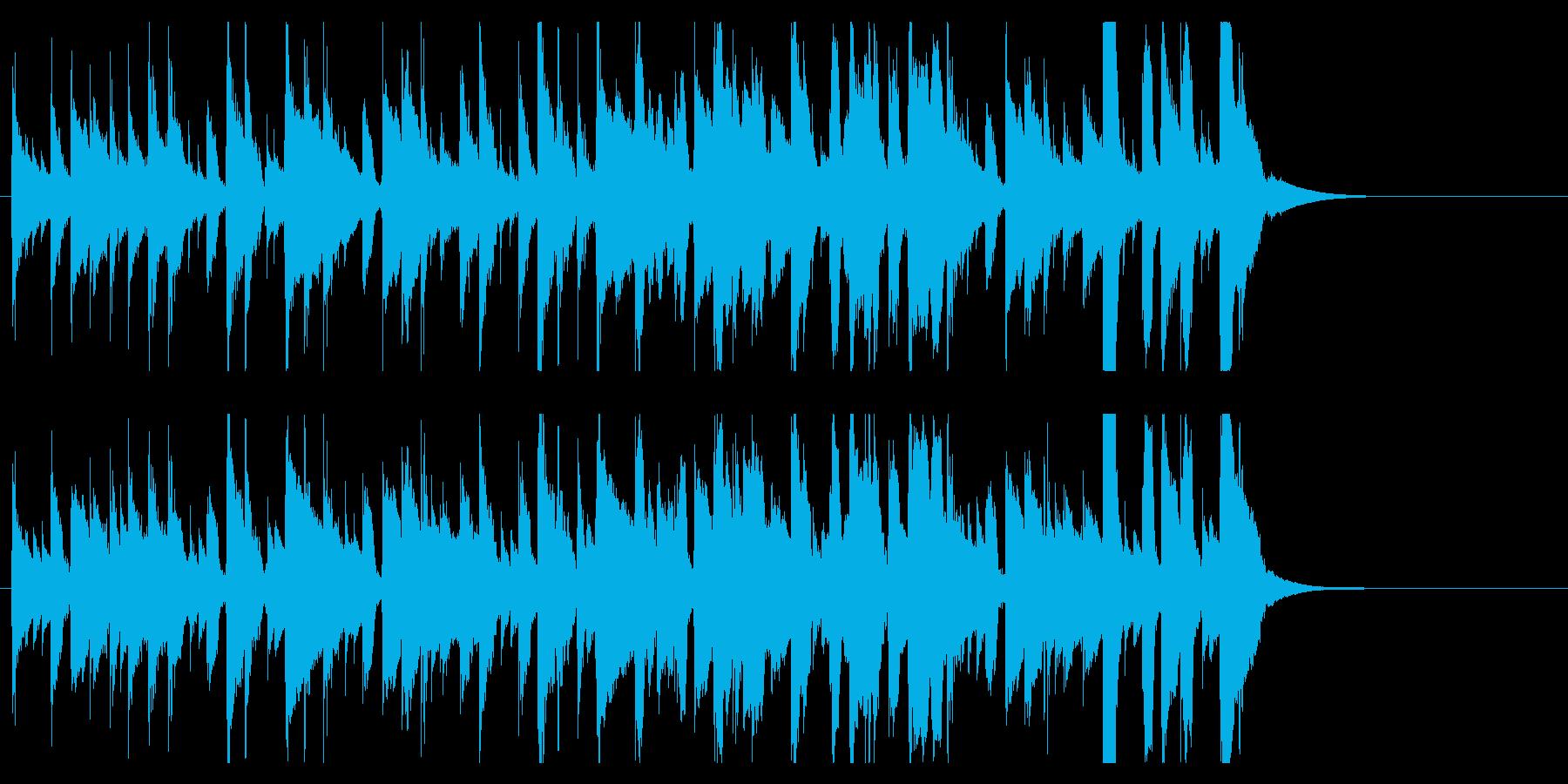 ほのぼのかわいいジングル 口笛で楽しいの再生済みの波形