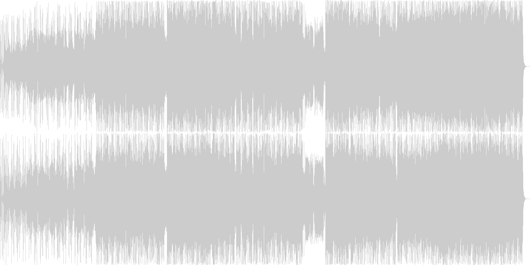 優しいピアンバラードの未再生の波形