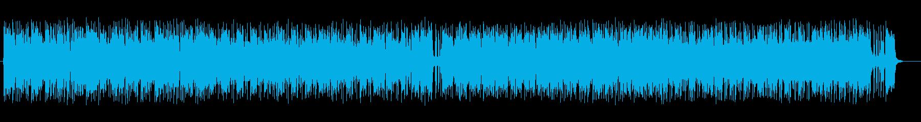 明るく涼しげなシンセサイザーサウンドの再生済みの波形