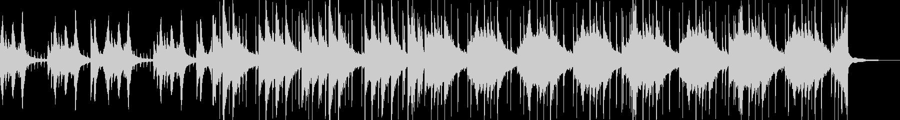 ドラムとピアノの落ち着いたBGMの未再生の波形