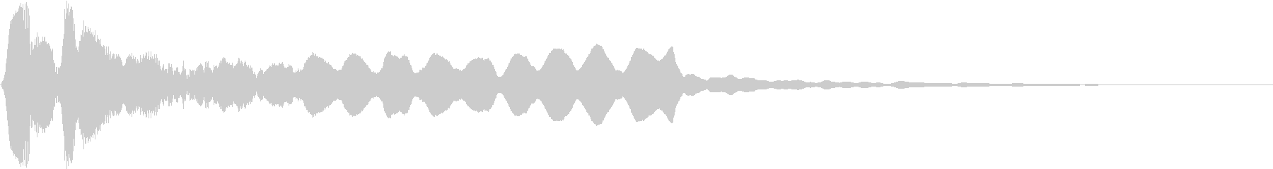 尺八のメロディ系 和風サウンドロゴの未再生の波形