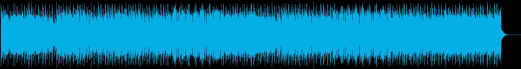 軽快に流れるイージーリスニングの再生済みの波形