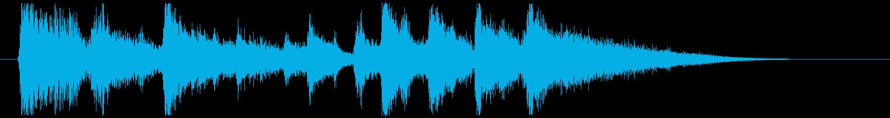爽やかなアコギのジングルの再生済みの波形