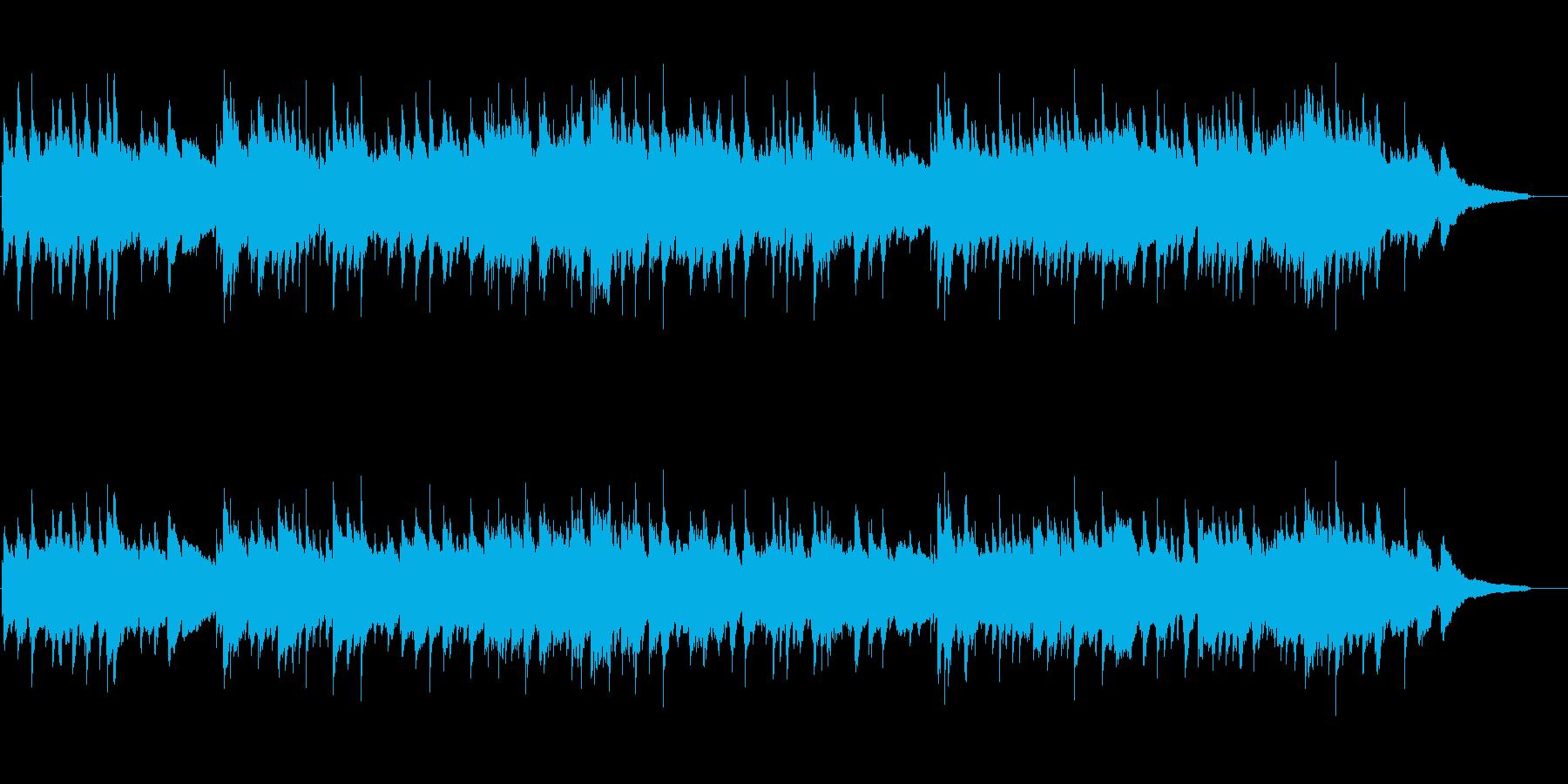 温かみのあるアコースティックギターソロ曲の再生済みの波形