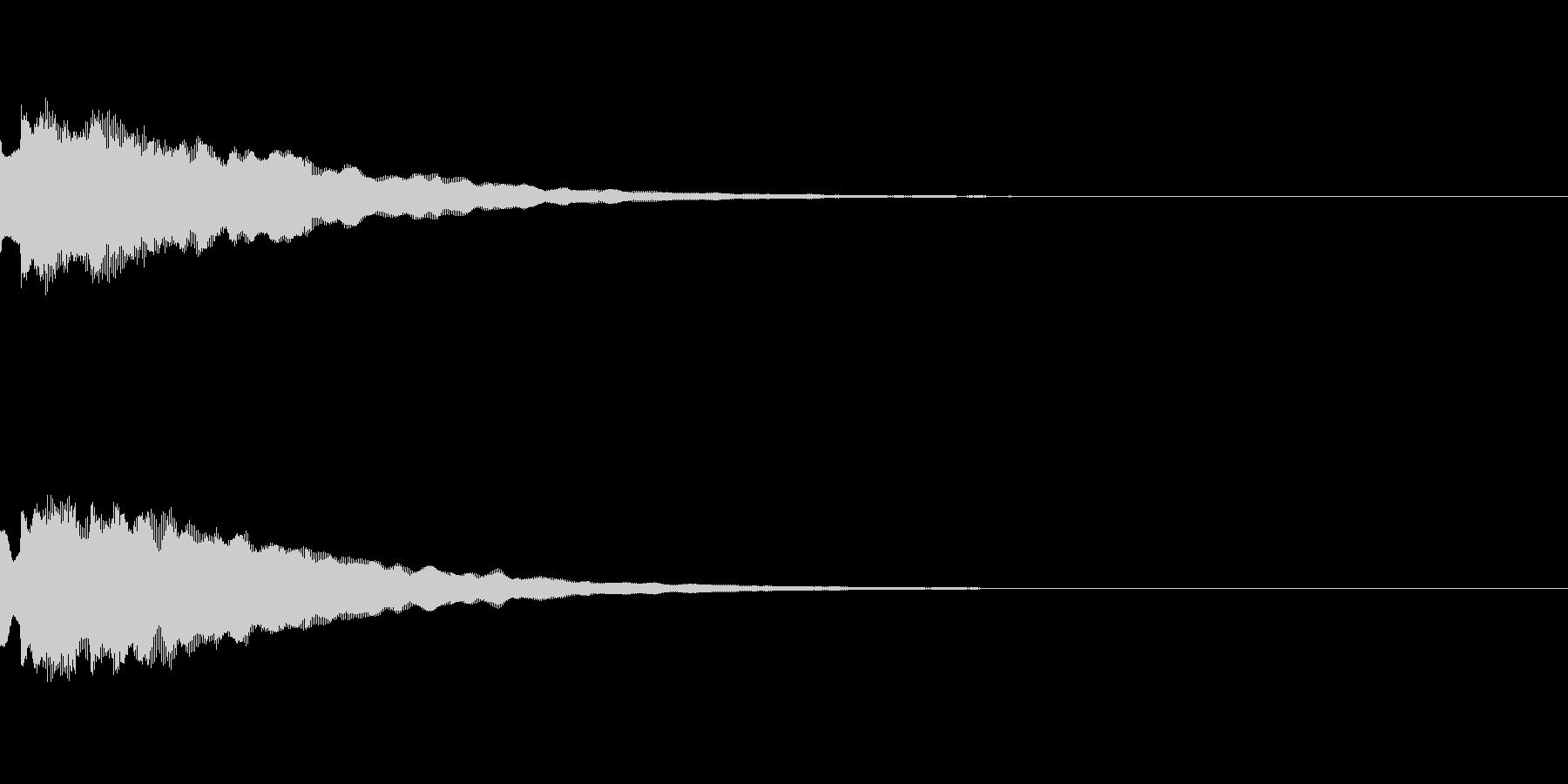 決定や場面転換など「タラリラリーン」の未再生の波形