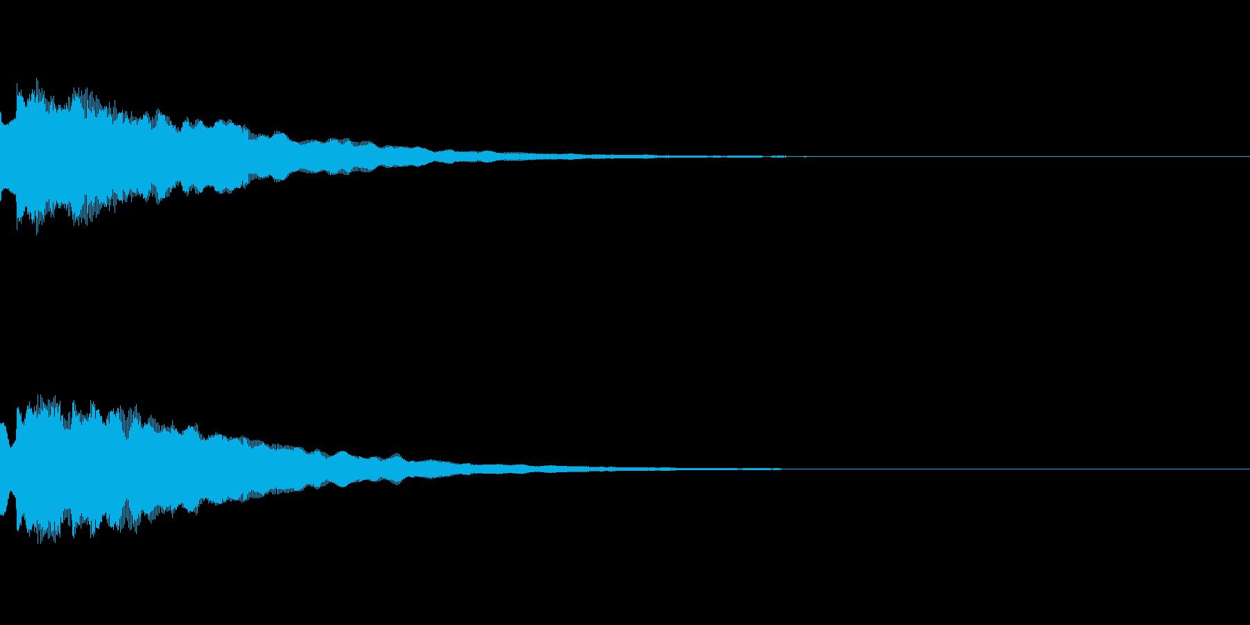 決定や場面転換など「タラリラリーン」の再生済みの波形