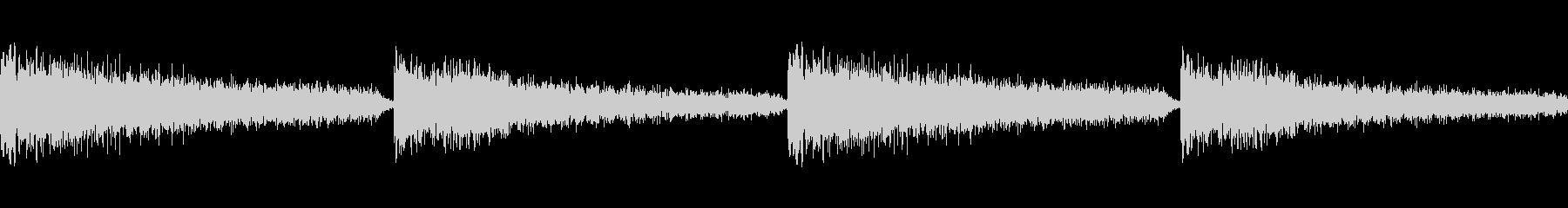 ミステリアス 衝撃の瞬間 ループの未再生の波形