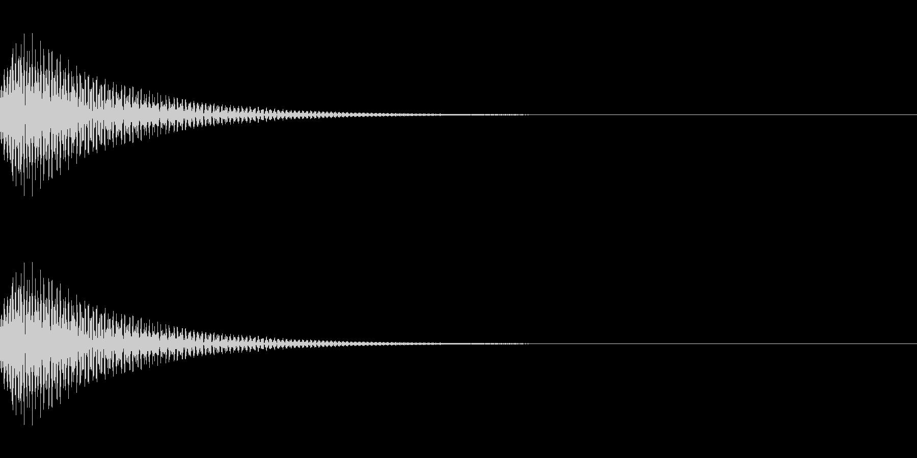 ポンッ SEの未再生の波形