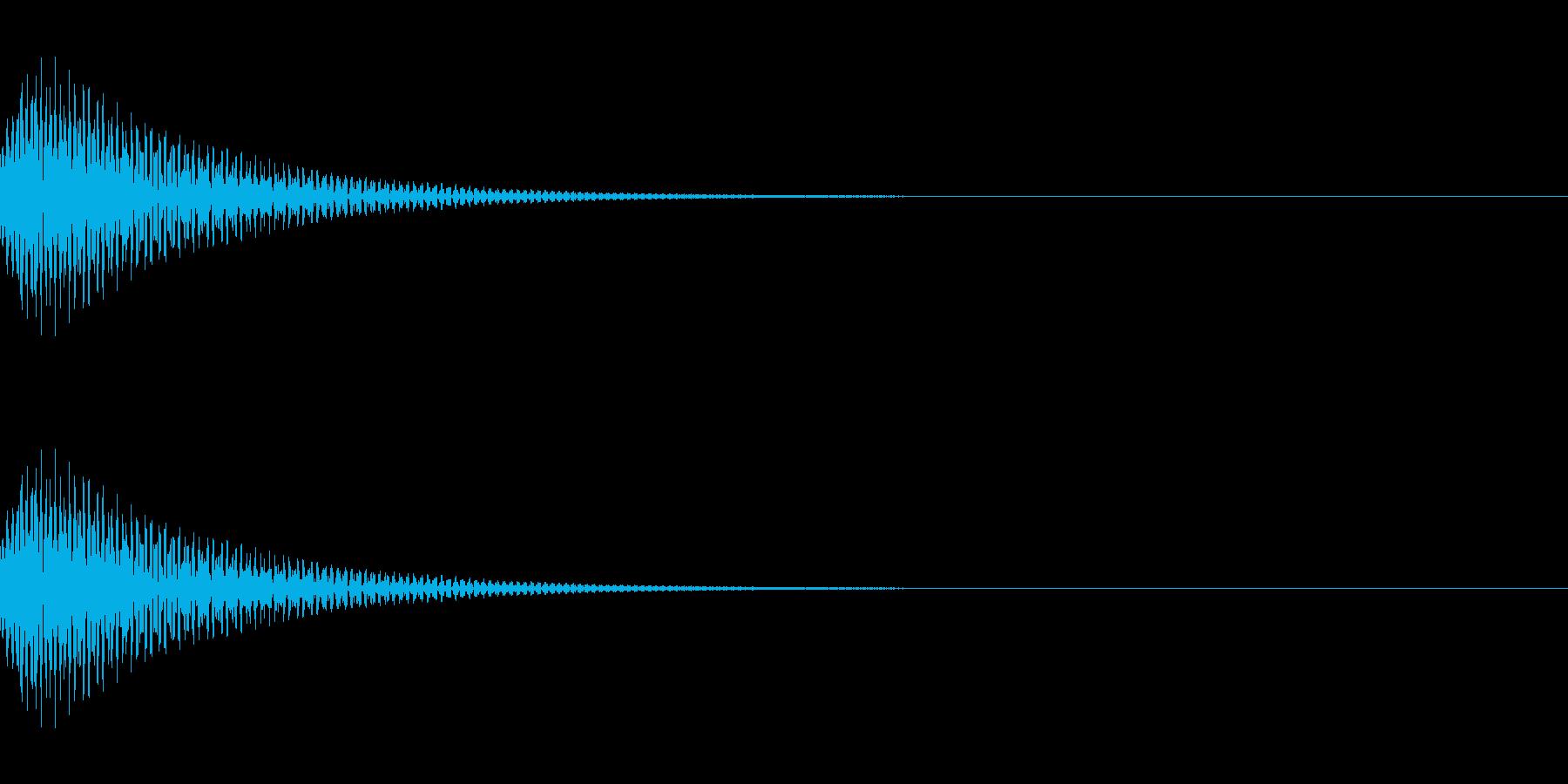 ポンッ SEの再生済みの波形