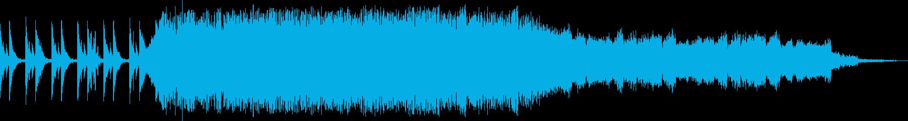 緊張感のあるピアノの再生済みの波形