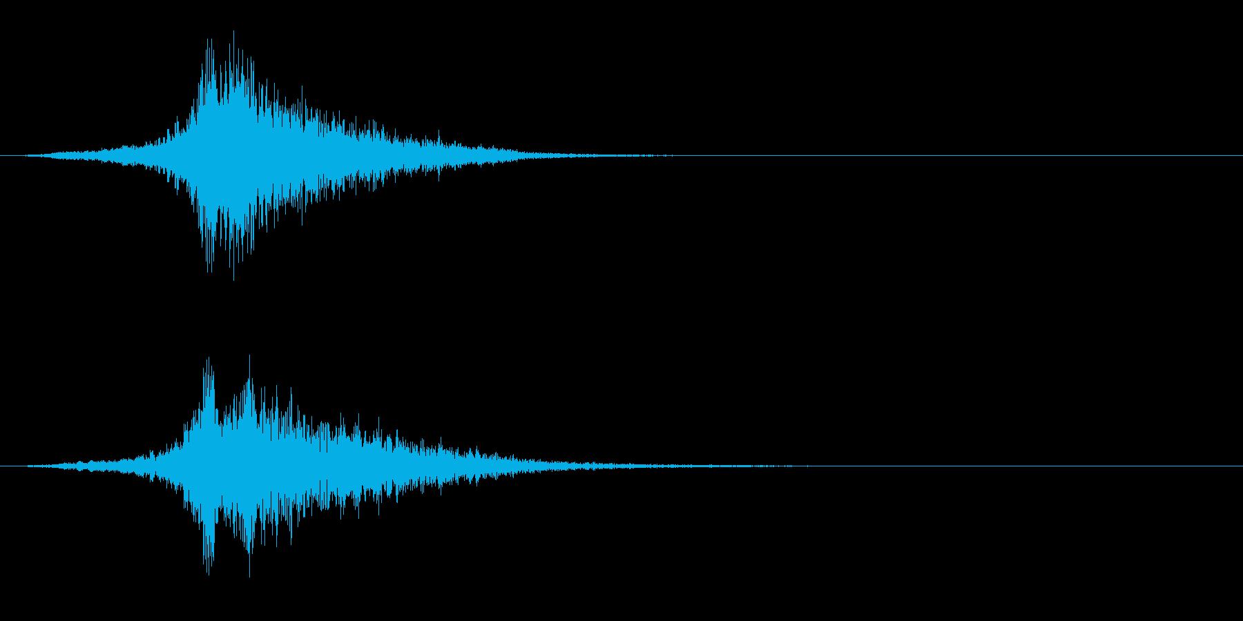ハリウッドホラー映画、ゴーストの音の再生済みの波形