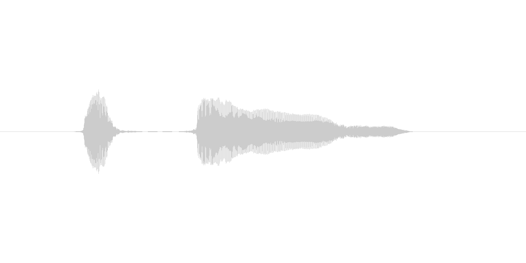ふっふーんの未再生の波形