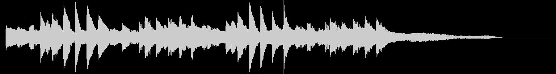 お正月・春の海モチーフのピアノジングルCの未再生の波形