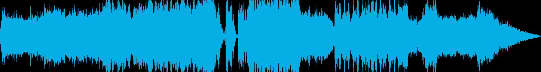 荘厳なクワイアのケルト風オーケストラの再生済みの波形