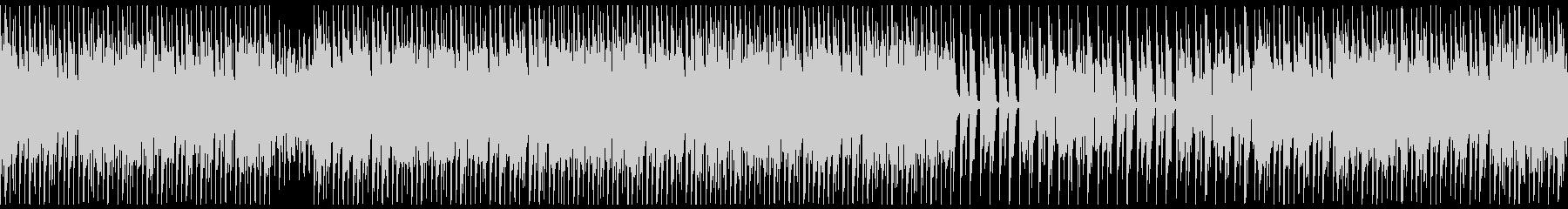 ほのぼのポップなピアノのテクノの未再生の波形