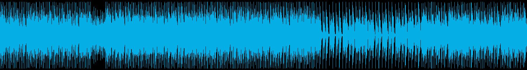 ほのぼのポップなピアノのテクノの再生済みの波形