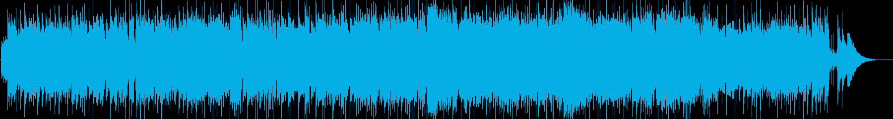 夏の風のイメージのフルートによるポップスの再生済みの波形