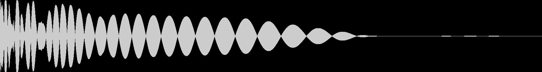 DTM Kick 5 オリジナル音源の未再生の波形
