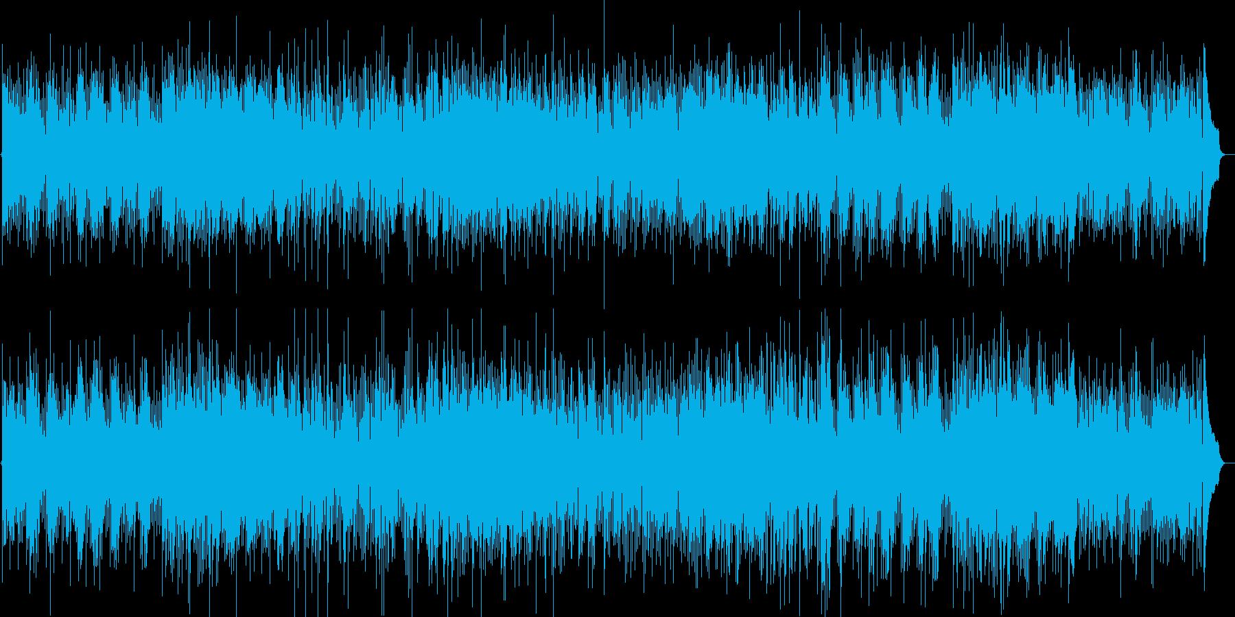 メランコリックな落ち着いたギターの曲の再生済みの波形